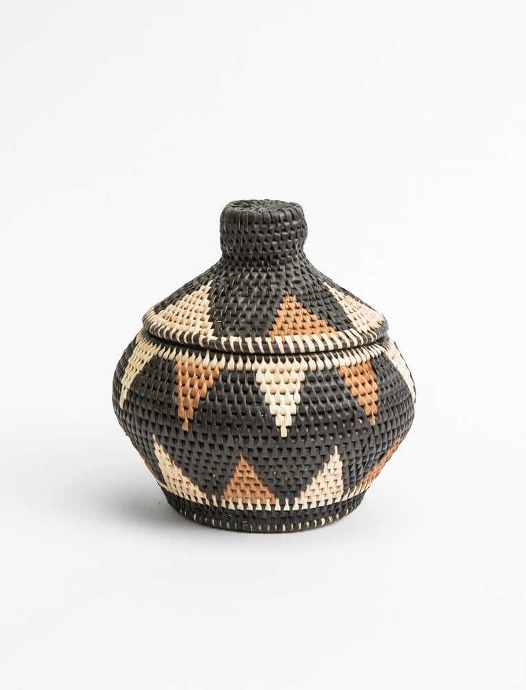 Small Triangle Woven Lid Basket