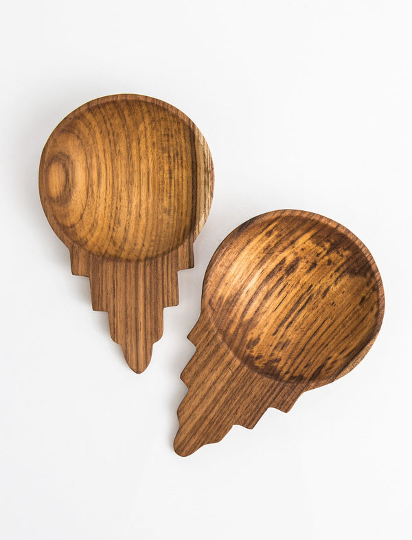 Teak Salad Scoops