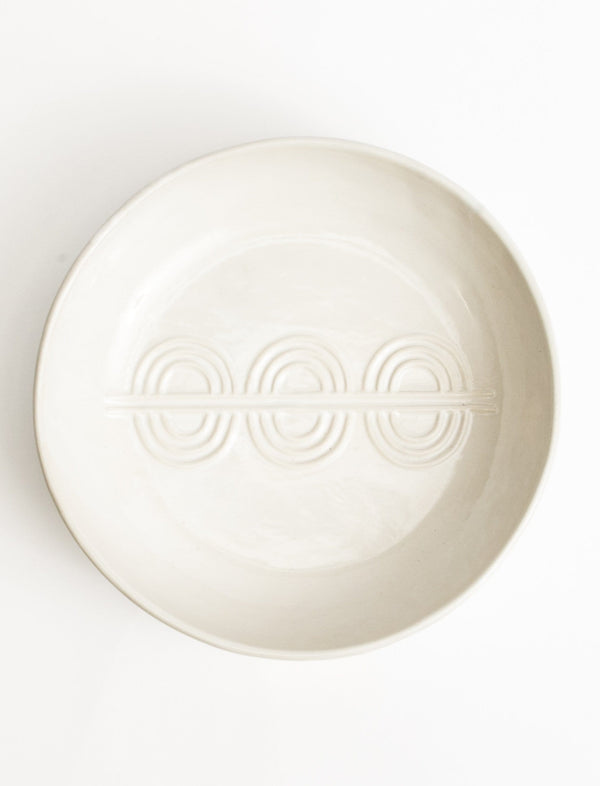 Deco Serving Bowl - White