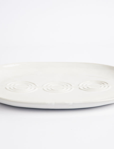 Deco Serving Platter - White