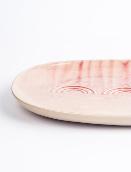 Deco Serving Platter - Pink Watercolor