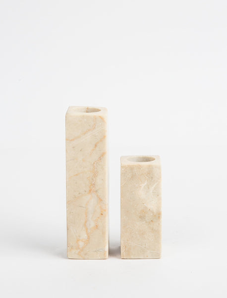 Marble Candlestick Natural - Tall