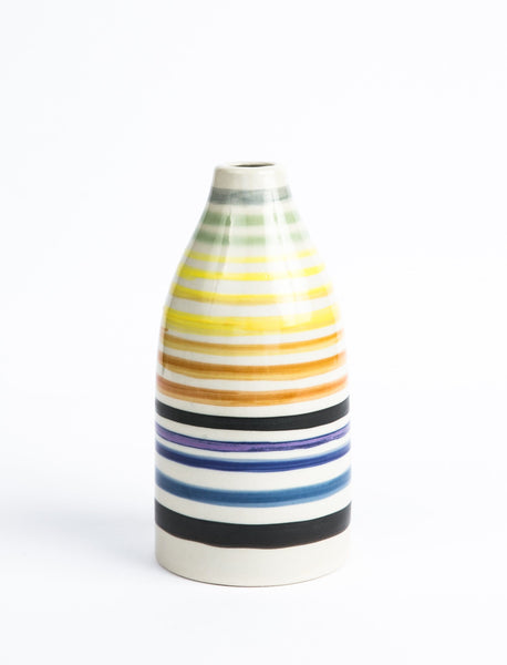 Multi-Color Striped Vase