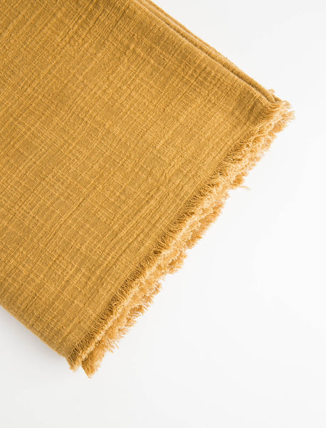 Plant-Dyed Throw - Mustard