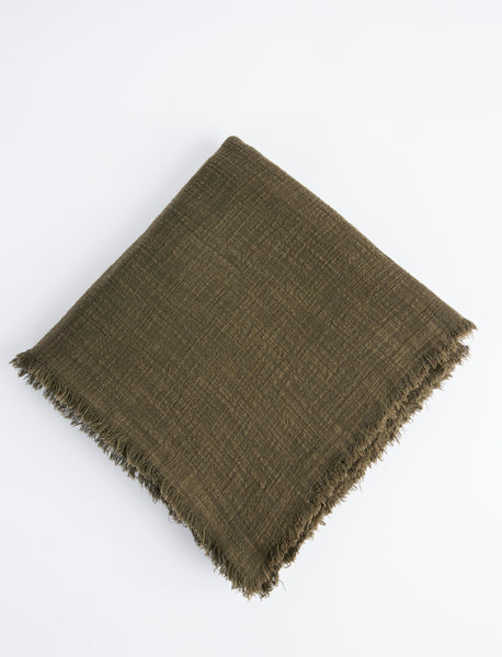 Plant-Dyed Throw - Stone