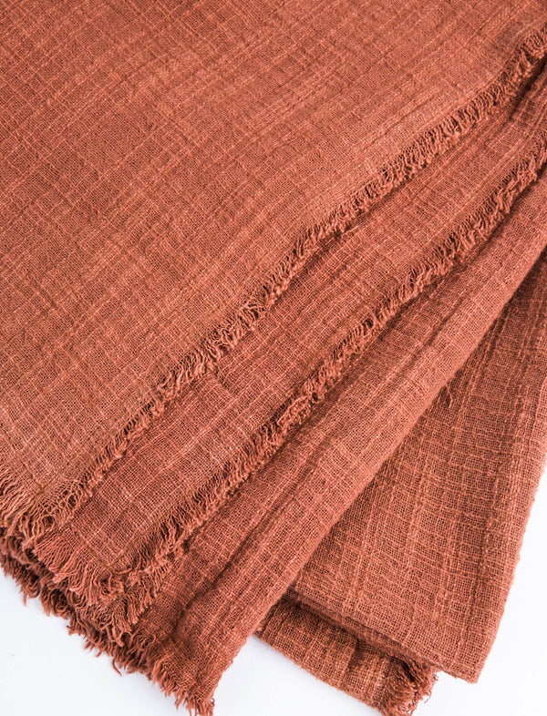 Plant-Dyed Throw - Rust