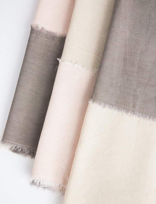 Color Block Tea Towel Set - Grey/Blush