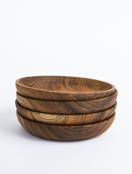 Teak Salad Plate- Set of 4