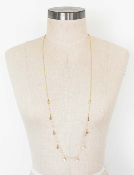 Dot Charm Necklace - Long