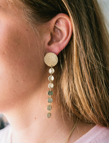 Connected Dots Drop Earrings