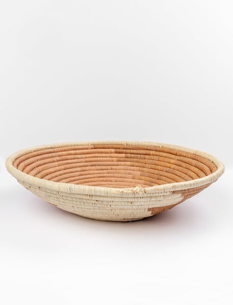 Round African Basket - Ombré Taupe