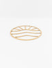 Sunset Waves Gold Trivet
