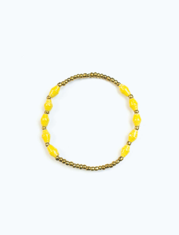 Yellow Single Strand Stretch Bracelet