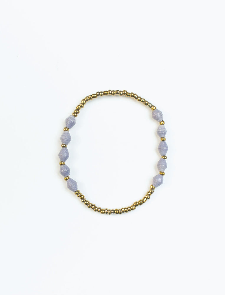 Lavender Single Strand Stretch Bracelet