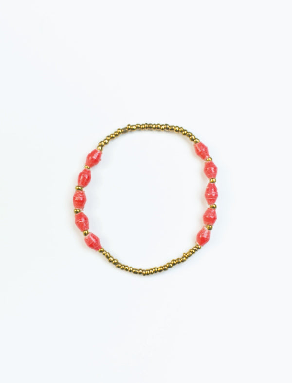 Red Single Strand Stretch Bracelet