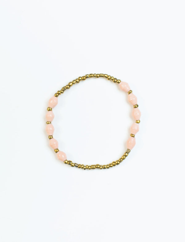 Light Pink Single Strand Stretch Bracelet