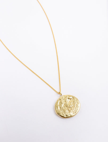 Single Hammered Coin Pendant