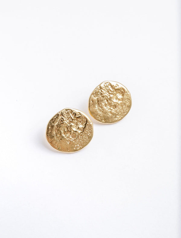 Hammered Coin Statement Studs