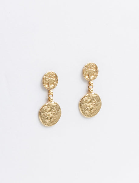 Antiquity Coin Drop Earrings