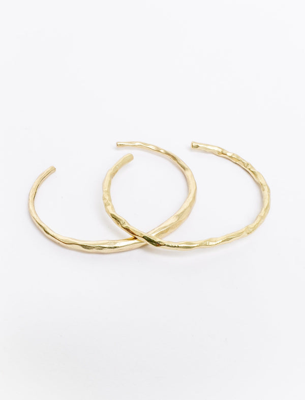 Hammered Crescent Cuff Duo