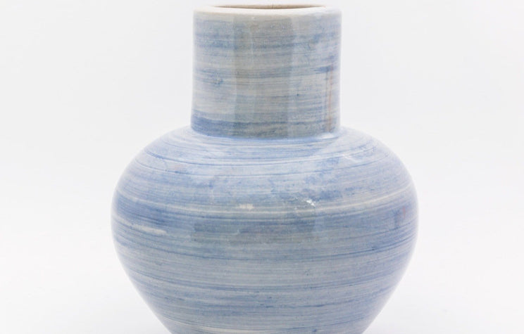 Blue Mist Brushed Vase