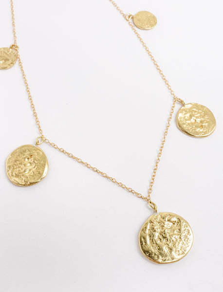 Hammered Coin Collection Necklace