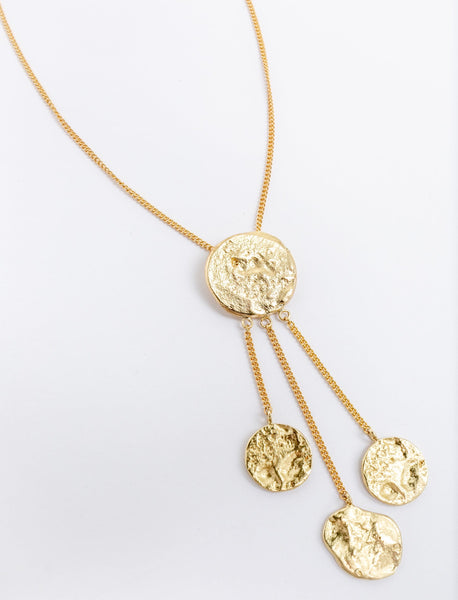 Blooming Coin Pendant Necklace