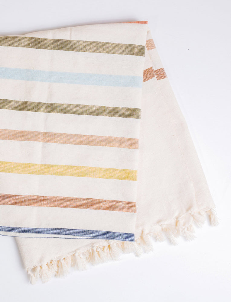 Remi Woven Striped Beach Towel