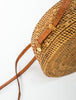 Woven Drum Bag - Leather Strap
