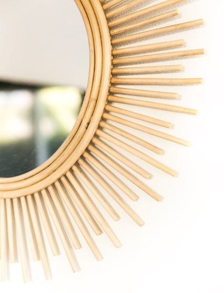 Rattan Sunbeam Mirror