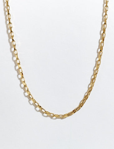 Balance Box Gold Plated Chain Necklace