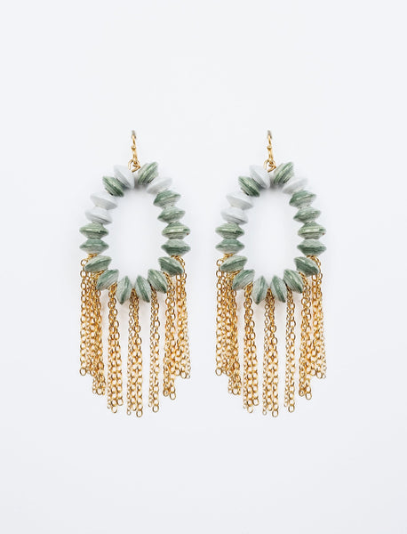 Beaded Fringe Hoops
