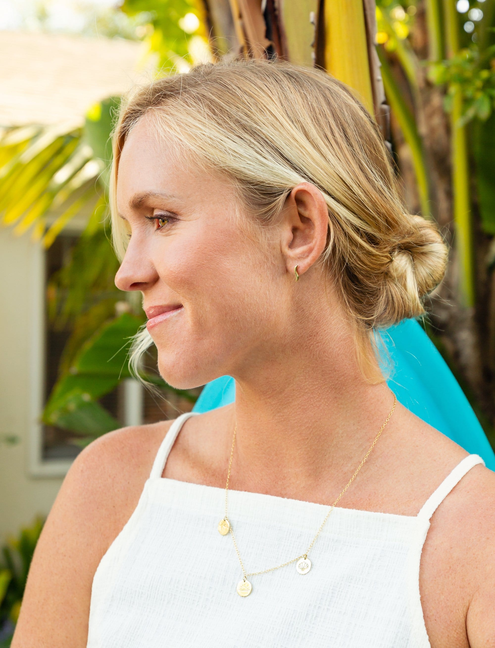 Ride the Wave Studs by Bethany Hamilton - Gold