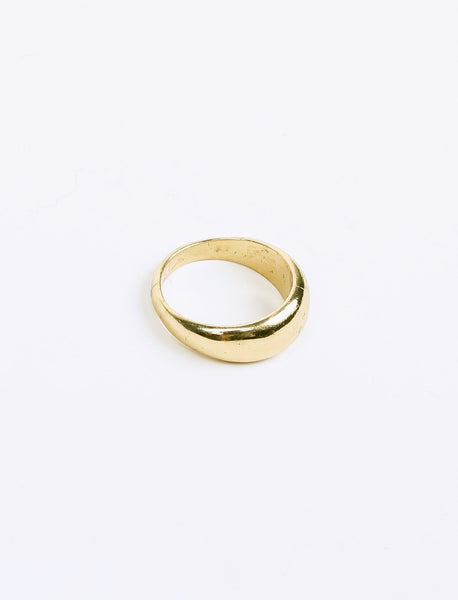 Brynne Rounded Gold Plated Ring