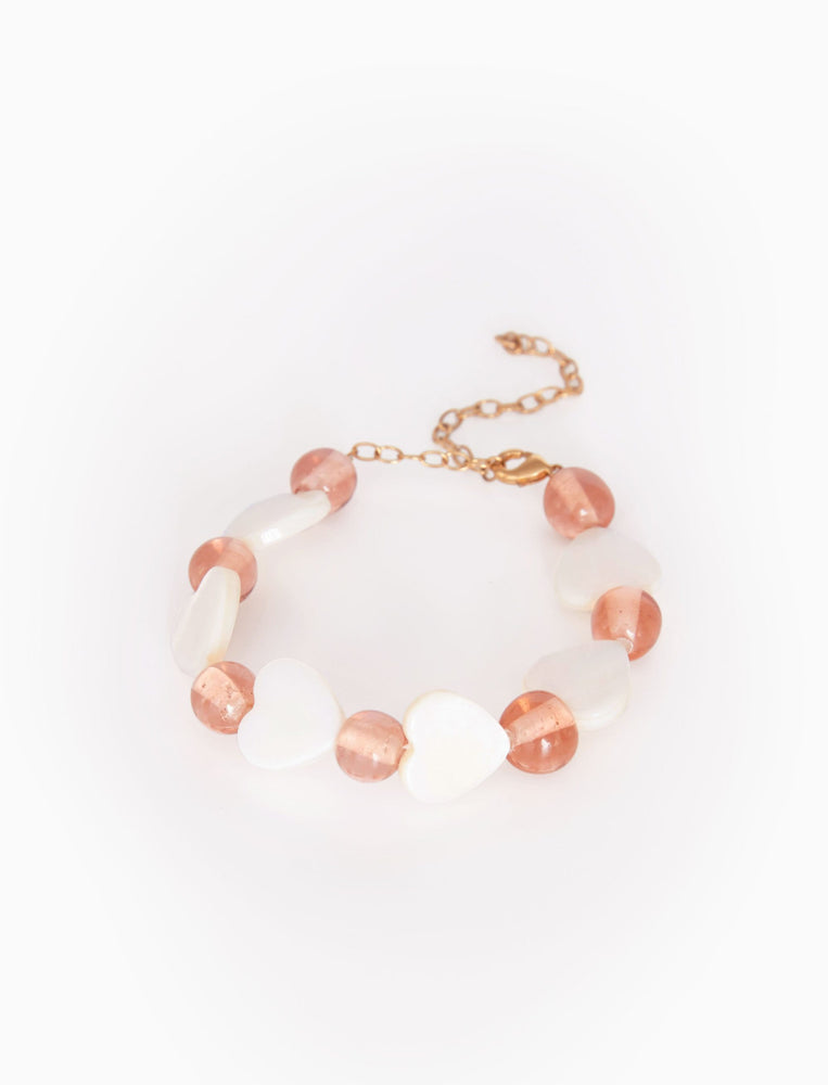 Connected Shell Heart Bracelet