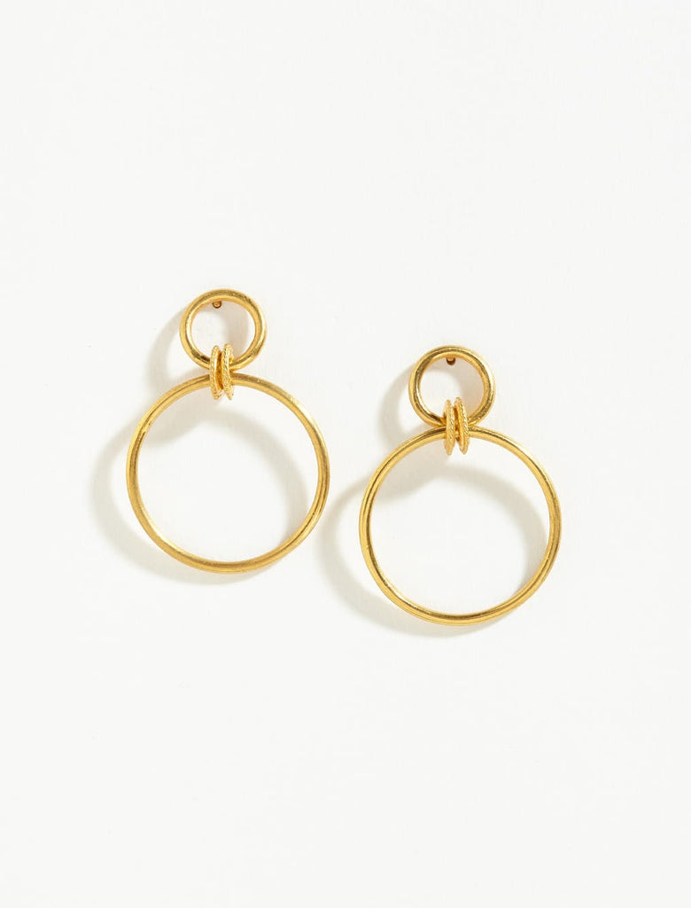 Double Twisted Ring Hoops