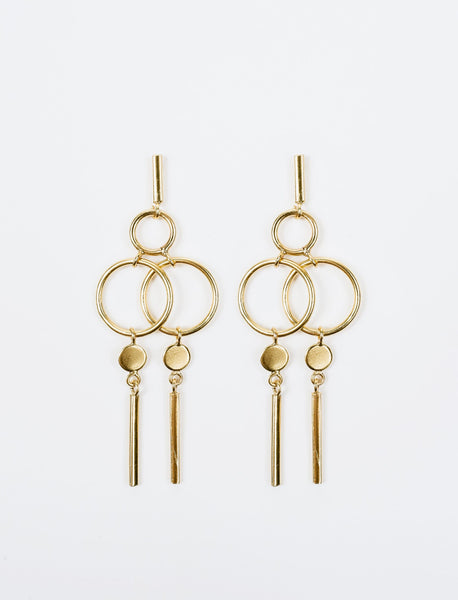 Geo Assembly Drop Earrings