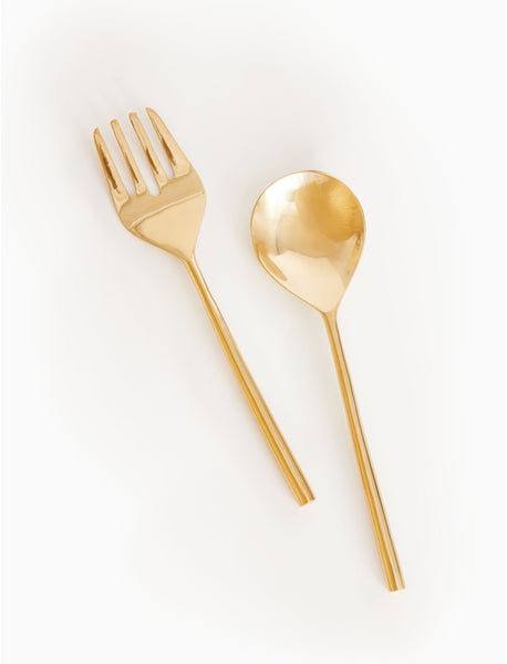 Golden Hour Salad Server Set