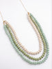 Lila Triple Strand Necklace