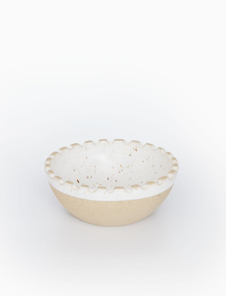 Scalloped Seacoast Small Serving Bowl