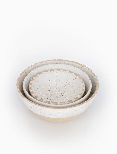 Seacoast Ceramic Serving Bowls, Set of 3