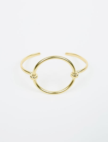 Simple Halo Gold Plated Cuff
