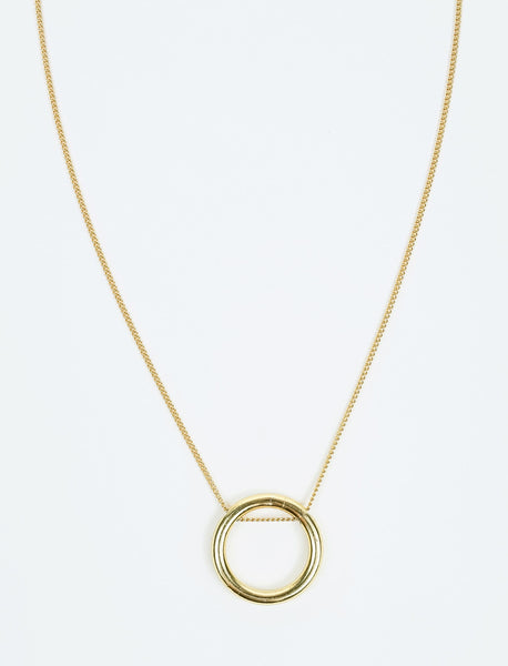 Simple Halo Gold Plated Necklace