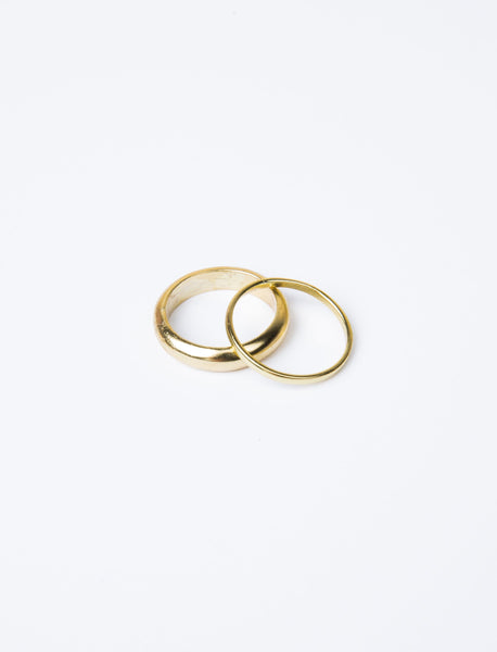 Stacking Brim Gold Plated Ring Set