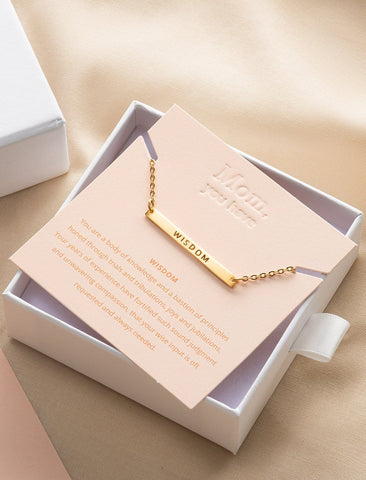 Mother's Virtue Necklace - Wisdom