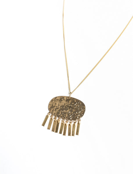 Fringed Pendant Necklace