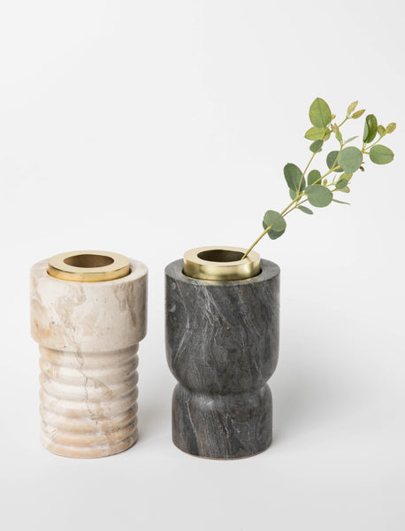 Marble Sculpted Vase Set