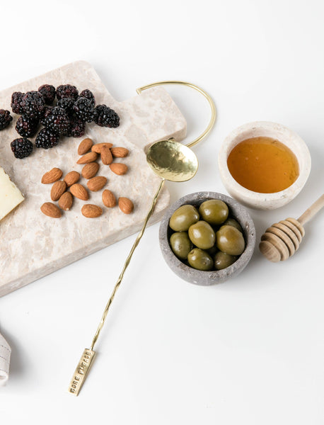 Marble + Brass Cheese Board