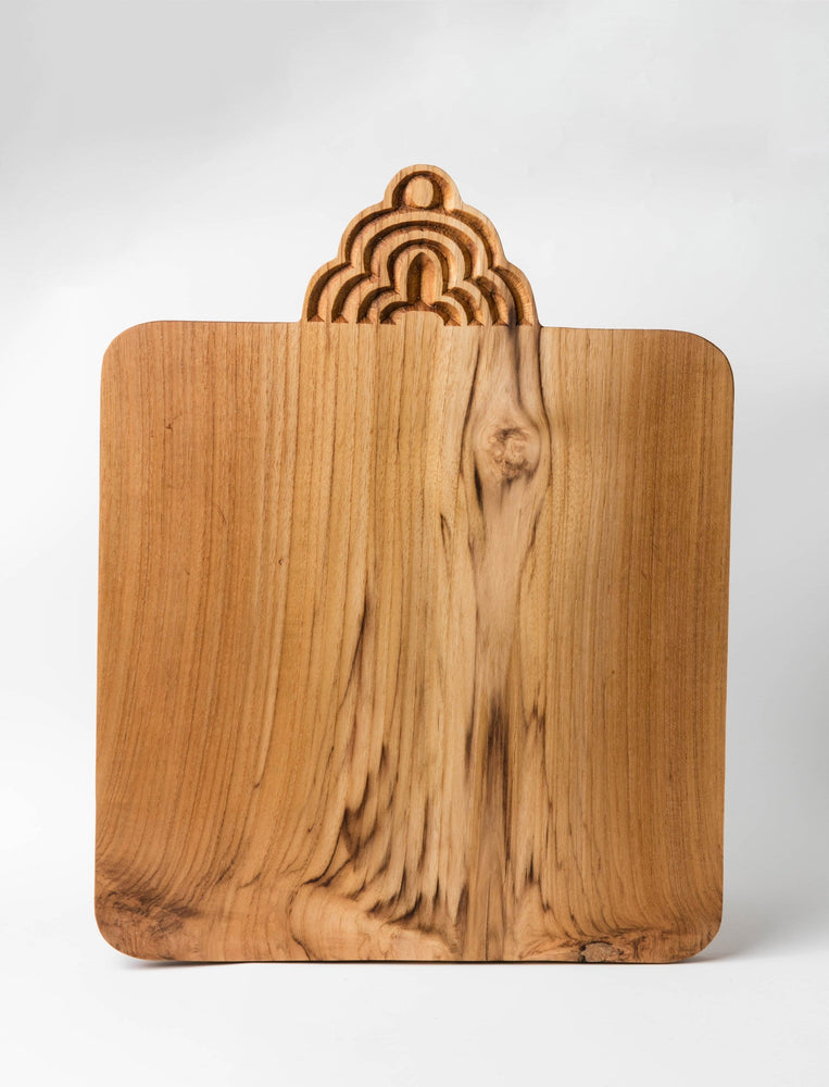 Carved Teak Cheese Board - 12.5""