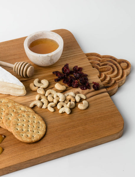 Carved Teak Cheese Board - 12.5